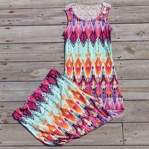 Bright Beautiful Muti Color Rue21 Maxi Dress